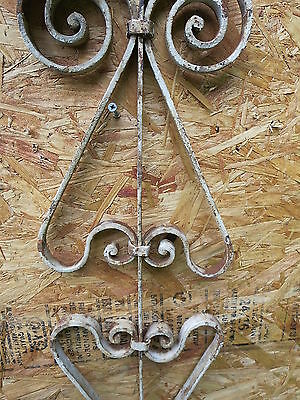 Antique Victorian Iron Gate Window Garden Fence Architectural Salvage Guard UU 5