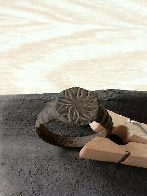 Bronze ring of the ancient Vikings. 3