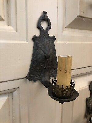 Single Hand Hammered Arts & Crafts Wall Sconce Rewired 3
