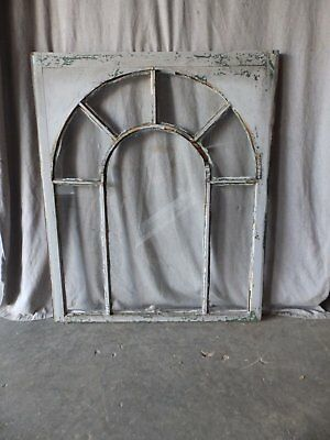 Antique Palladian Window Dome 7 Lite Arch Top Cabinet Shabby Chic 40X34 70-17P 7