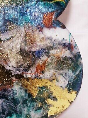 "12"" Resin Heart on Wood - Resin Art - Abstract Art - Resin Painting 5"
