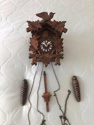 Vintage REGULA Hand Made Wooden Black Forest Cuckoo Clock Made in Germany 5