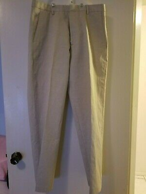 Banana Republic Modern suit Beige Jacket/Pant Set 40R / 34-32 new w defects. 11