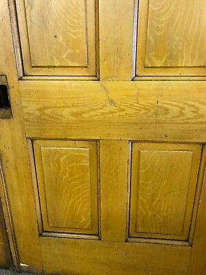 ANTIQUE Grain Painted Pine VICTORIAN POCKET DOOR 37 X 95.5 ARCHITECTURAL SALVAGE