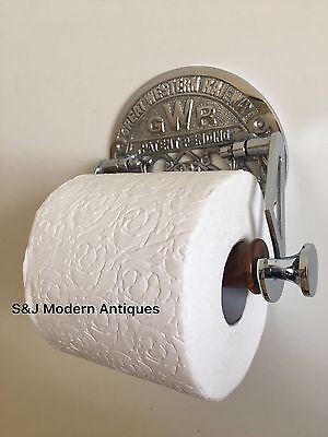 Victorian Toilet Roll Holder Novelty Chrome Unusual GWR Vintage Design Silver 2