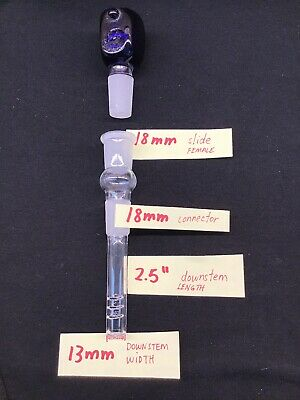 """Glass Downstem Water Pipe Bong 14mm 18mm FEMALE 2.5"""" to 6"""" ~BUY 2 GET 1 FREE~ FF 7"""