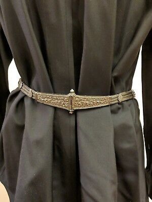 Antiq Rajasthan India Ethnic Tribal Silver Triple Snake Chain Wedding Dowry Belt 12