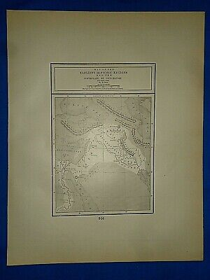 Vintage Historical Map ~ BIRTHPLACE of CIVILIZATION B.C. 3000 ~  Printed in 1892 2