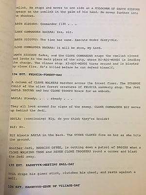 Star Wars Episode Iii Revenge Of The Sith Lucasfilm Rare Screenplay Script 29 99 Picclick
