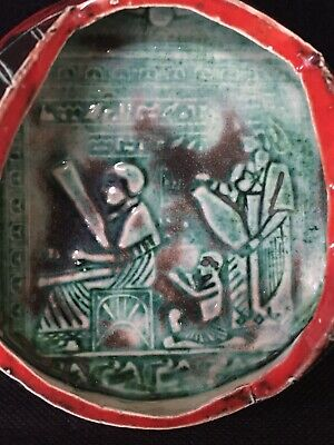Rare Ancient Egyptian Glazed Heiroglyphics Pottery - Marked - Take A L@@K 2