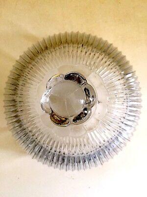 Cloche en cristal ancienne VALLERYSTHAL, alimentaire : fromage, gâteaux… signée. 7