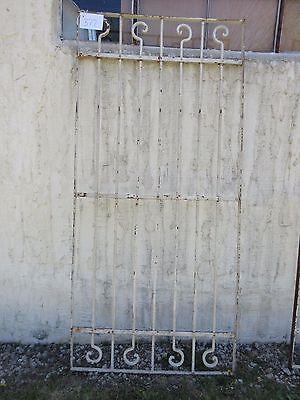 Antique Victorian Iron Gate Window Garden Fence Architectural Salvage Door #377 5
