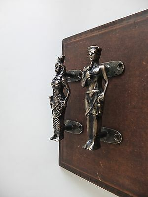 Vintage Antique Style Solid Brass Pair Of Door Handles Pulls 2