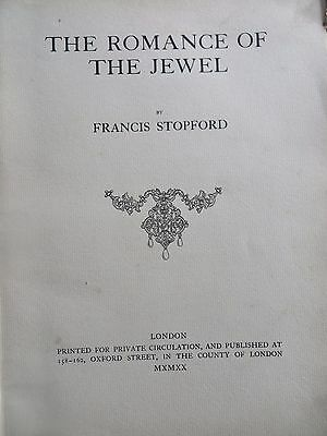 The Romance of the Jewels Rare Private Book Hudson & kearns by STOPFORD francis 6