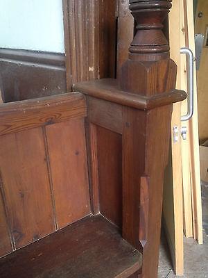 Victorian Church Neo Gothic Pew chapel settle bench Elders Seat TallSlimBookcase 7