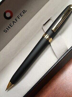 Sheaffer Sentinel Matte Black /&  Gold  0.7mm Pencil New In Box 327-3