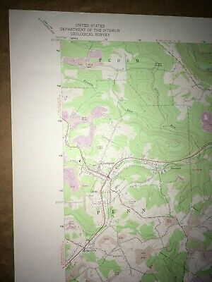 Curwensville Pa. Clearfield USGS Topographical Geological Survey Quadrangle Map 2