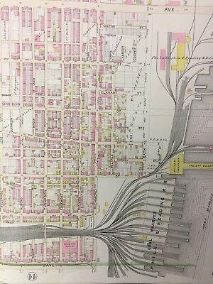 1895 Franklin Cemetery Allegheny Square Richmond, Philadelphia Pa Atlas Map 3