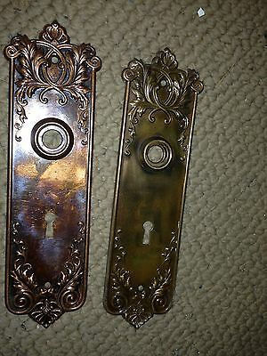 H 23 Brass And Steel Ornamental Passage Set Back Plates 19 Available Antique 2
