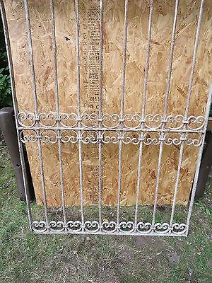 Antique Victorian Iron Gate Window Garden Fence Architectural Salvage Door T 3