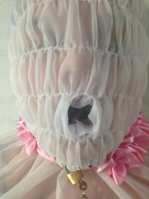 Sissy * Adult Baby * Fetish * Cd/Tv * Lockable Slave Hood With Mouth Sleeve 4