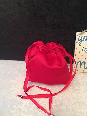 PLAIN DOLLY BAG BRIDAL BRIDESMAID FLOWER GIRL BNIP ASS. COLS. ** free samples** 9