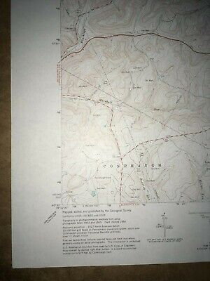 McIntyre PA. Indiana Co Old USGS Topographical Geological Survey Quadrangle Map 4