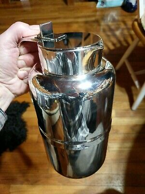 Vintage ITALIAN Silver Plated Vacuum Pitcher 12