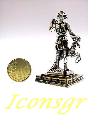 Ancient Greek Olympian God Miniature Sculpture Statue Zamac Diana Artemis S 2