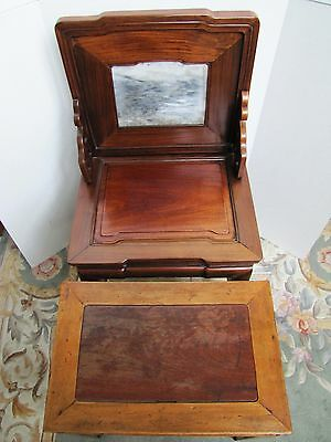 Antique 19th Century Chinese Blackwood and Marble Chair 2