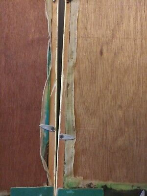 2 Antique Asian Framed Hand Paintings On Silk Behind Glass Bamboo Type Frame 7