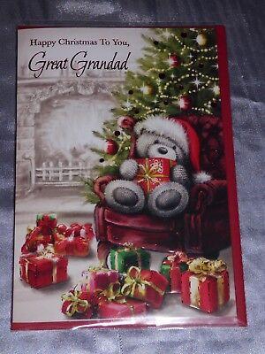 GREAT GRANDAD  CHRISTMAS CARD CUTE TRADITIONAL MALE GREAT GRANDPA GRANDFATHER