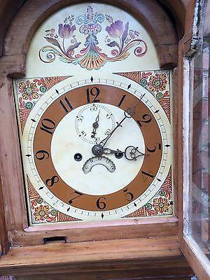 pine grandfather clock reduced£495 5