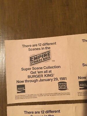 Vintage Star Wars 1981 1983 Burger King Stickers Set Of 4 NEW Empire Strikes Bac 3