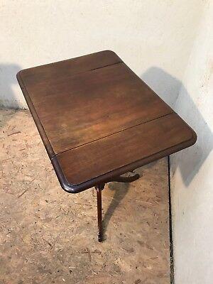 Antique Victorian 19Th Century Mahogany Occasional Tripod Table 7