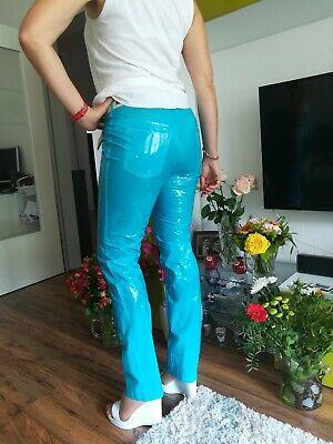 Adult Baby SISSY GUMMIHOSE PVC Hose LACK Jeans Gummi Unisex PLASTIK TRAVESTIE XL 3
