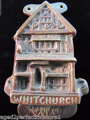 Antique Bronze WHITCHURCH Door Knocker small figural interior architectural hdwr 2