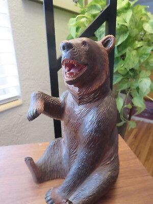 Superb old big Swiss Brienz Black Forest Hand Carved Bear 10