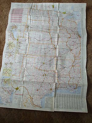 Vintage Mobil Central & Western United States Travel Map 4