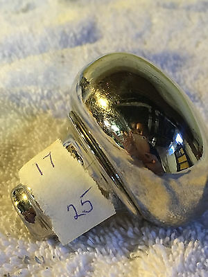 No.17 antique doorknob nickle-plated (over brass?)