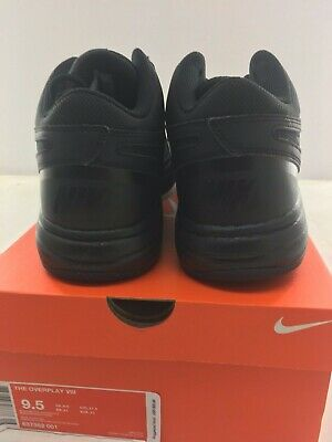 new products 79c1c 0b9cd ... Nike The Overplay VIII Mens Black Leather Basketball Shoes - NEW -  Medium 4