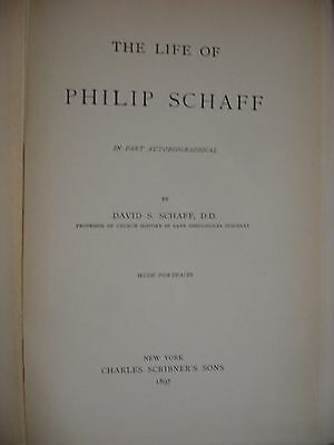 Life of Philip Schaff - Includes ephemera related to Schaff - 1897 3 • CAD $371.21