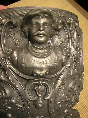 Antique ART NOUVEAU BELLE EPOQUE French Metal GARDEN JARDINIERE PLANTER POT