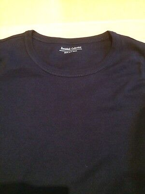 M&S Ladies Long Sleeve Crew Neck T Shirt Pure Cotton,sz 6-24,free postage 6