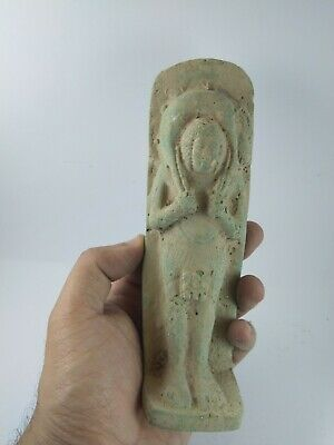 RARE ANTIQUE ANCIENT EGYPTIAN Malachite Ston King Amenhotep Hunt Deer 1420 Bc 2