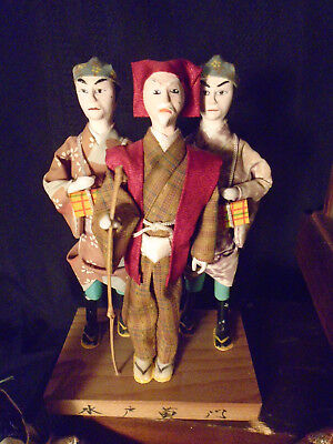 4 + 3 + 1 Antique Japanese Hina Imperial Court Empres Dolls With Gofun Faces 2