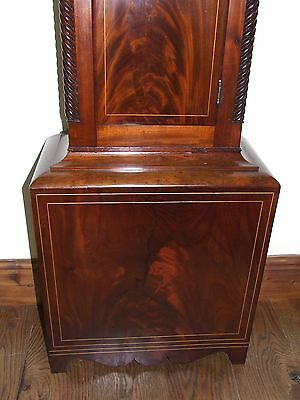 * Antique Inlaid Mahogany Longcase Grandfather Clock THOMAS DE GRUCHY JERSEY 10