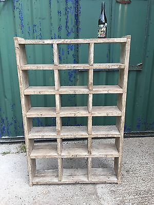 Industrial Up-Cycled Pigeon Hole Shoe Rack / Shelveing Unit. 2