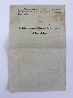 Historisches Zeitdokument Gebrauch des Melissen-Geistes o. Schlagwassers 19. Jh. 4