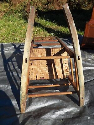 Shaker Antique Rocker Ladder Back Rocking Chair Very Early Maple & Ash wood 5